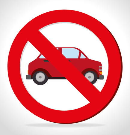 parking is prohibited: Transport design, vector illustration. Illustration