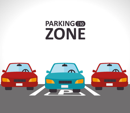 cars parking: Transport design, vector illustration. Illustration
