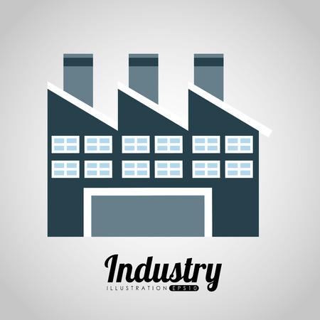 工場建物デザイン、ベクトル図 eps10 グラフィック  イラスト・ベクター素材