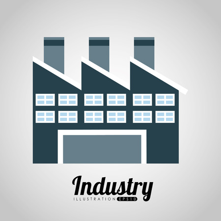 factory building: factory building design, vector illustration eps10 graphic
