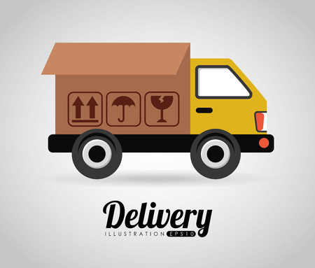 moving truck: delivery icon design, vector illustration eps10 graphic Illustration