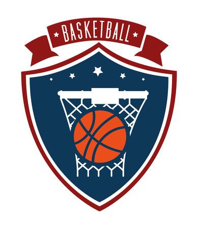 fitness ball: Basketball design over white background, vector illustration. Illustration
