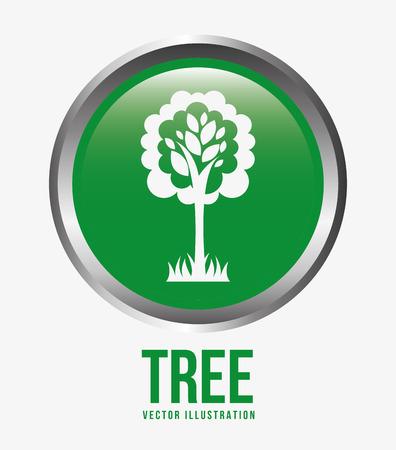 button grass: green tree design, vector illustration eps10 graphic Illustration