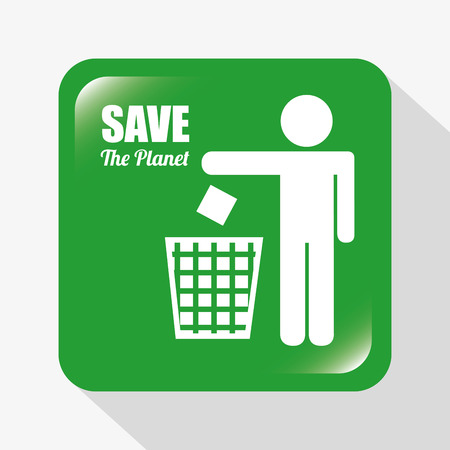 cleaning planet: eco concept design, vector illustration eps10 graphic Illustration