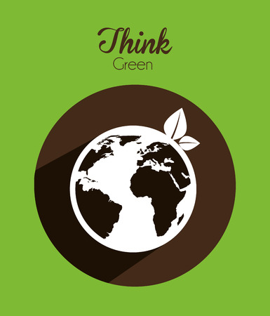 cleaning earth: eco concept design, vector illustration eps10 graphic Illustration