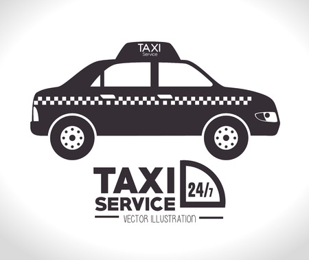 taxi cab: Taxi design over white background, vector illustration.