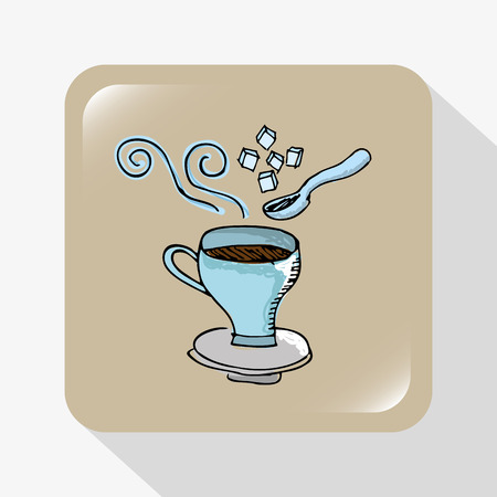 coffee time design, vector illustration graphic