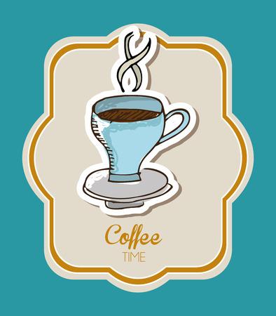 coffe break: coffee time design, vector illustration graphic