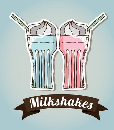 slush: milkshake design, vector illustration graphic