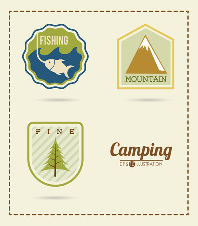 fishing area: camping adventure design, vector illustration graphic Illustration
