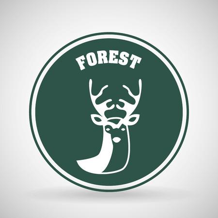 chunk: deer signal design, vector illustration eps10 graphic