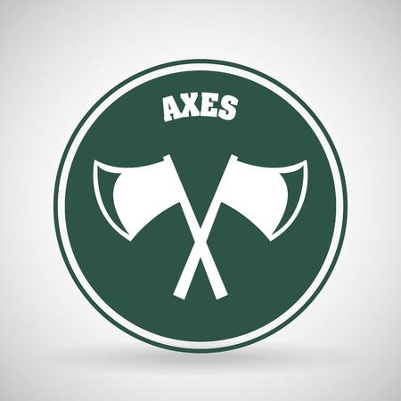 axes: axes icon design, vector illustration graphic Illustration