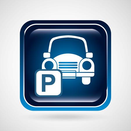 car parking: parking sign design, vector illustration graphic