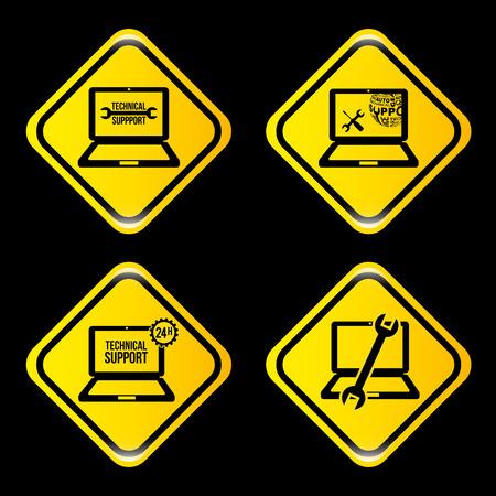computer repair technician: computer support design, vector illustration graphic