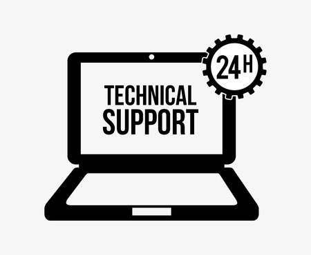 computer repair concept: computer support design, vector illustration graphic