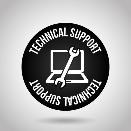 computer support: computer support design, vector illustration graphic