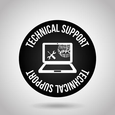 sel: computer support design, vector illustration graphic
