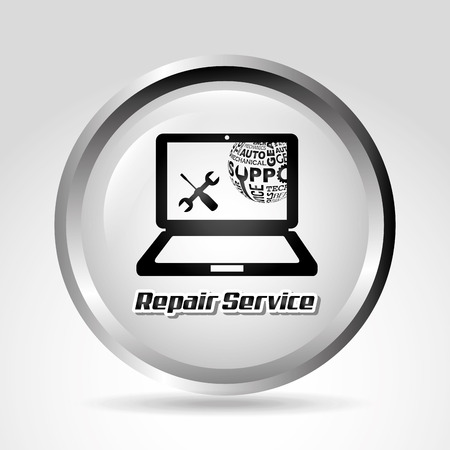 computer repair technician: computer support design, vector illustration eps10 graphic