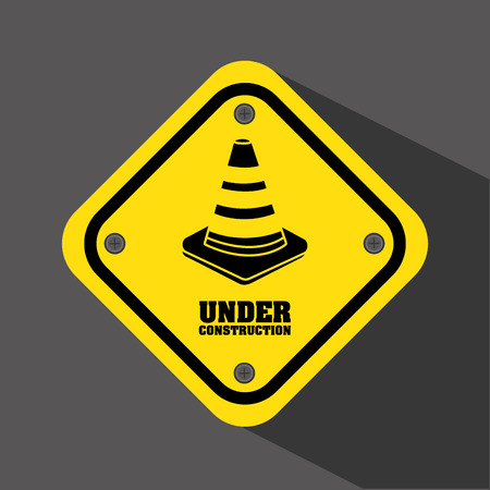 under construction road sign: under construction design, vector illustration graphic