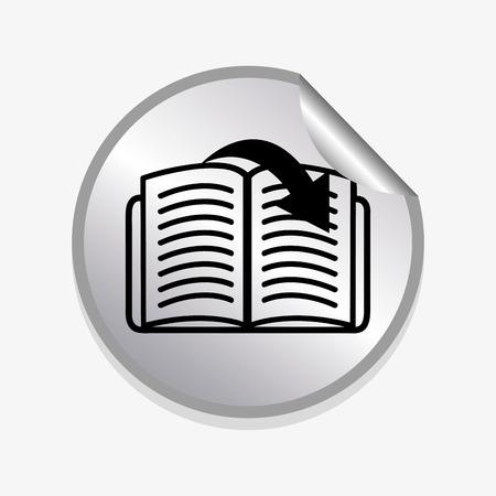 e-book concept design, vector illustration eps10 graphic Vector
