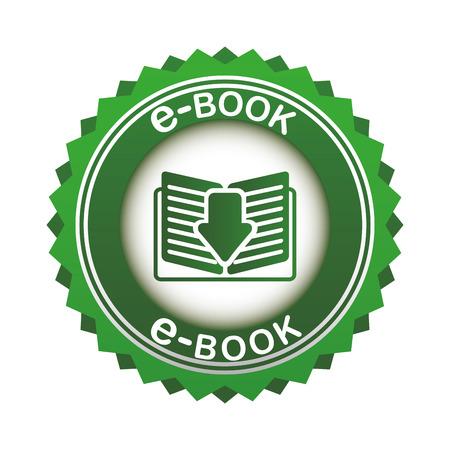 e-book concept design, vector illustration graphic Vector