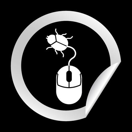 wireles: computer virus design, vector illustration eps10 graphic