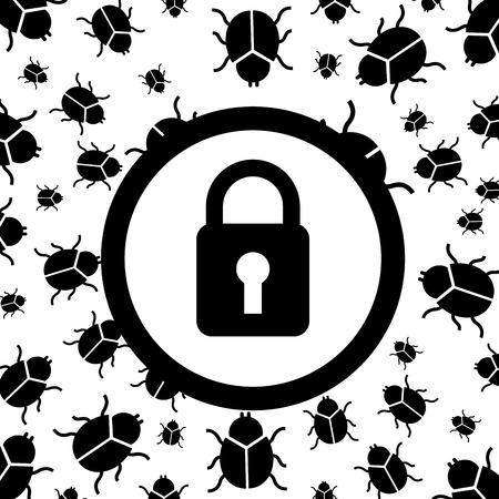 computer tech: computer virus design, vector illustration eps10 graphic