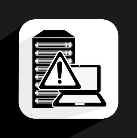 virus informatico: diseño de virus informático, ilustración vectorial gráfico Vectores