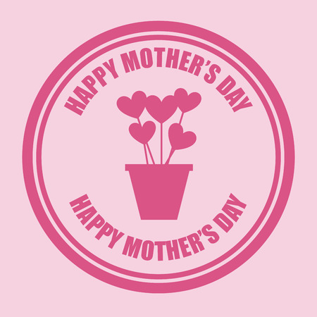 love stamp: mothers day design, vector illustration graphic