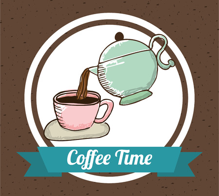 coffe break: coffee time design, vector illustration eps10 graphic