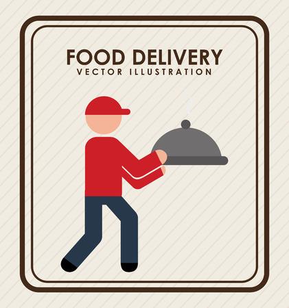 food delivery design, vector illustration eps10 graphic Çizim