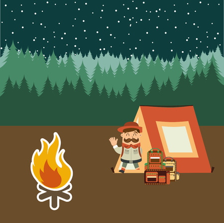 camping adventure design, vector illustration eps10 graphic Vector