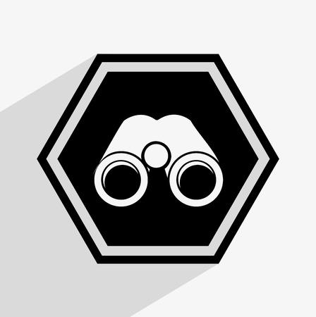 binoculars view: binoculars icon design, vector illustration eps10 graphic