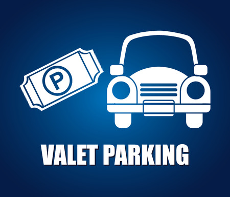 valet: parking sign design, vector illustration eps10 graphic