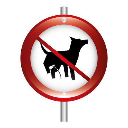 prohibido: dise�o del perro prohibida