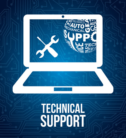 computer support: computer support design, vector illustration eps10 graphic