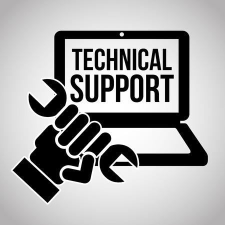 computer repair technician: computer support design Illustration