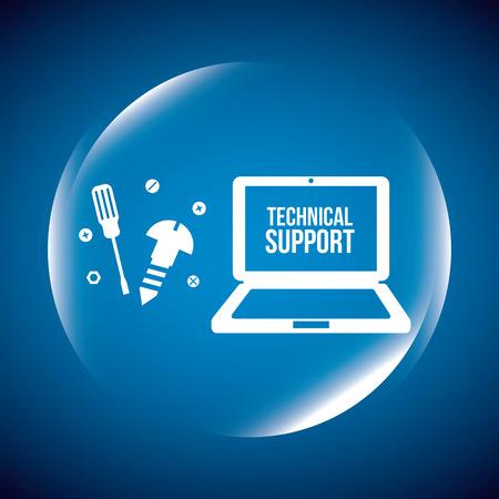 La conception de soutien informatique, vecteur illustration graphique eps10 Banque d'images - 37145367