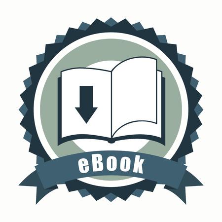 ebook icon design, vector illustration eps10 graphic