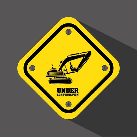 alert ribbon: under construction design
