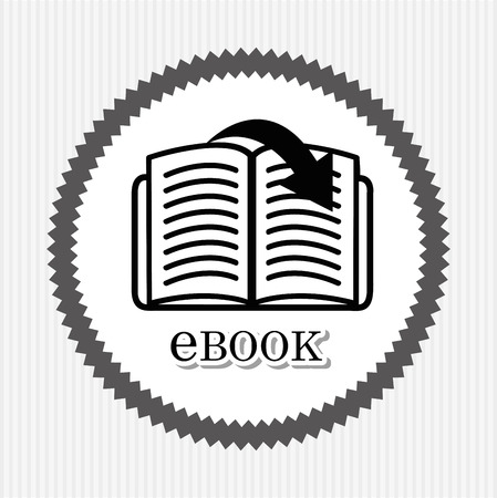 page down: e-book concept design, vector illustration eps10 graphic