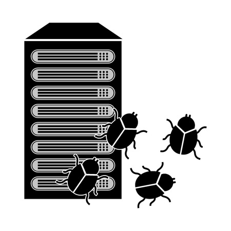 detected: computer virus design, vector illustration eps10 graphic