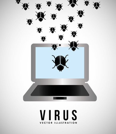 computer virus protection: computer virus design, vector illustration eps10 graphic