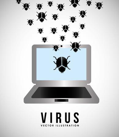 virus informatico: dise�o de virus inform�tico, ejemplo gr�fico del vector eps10 Vectores