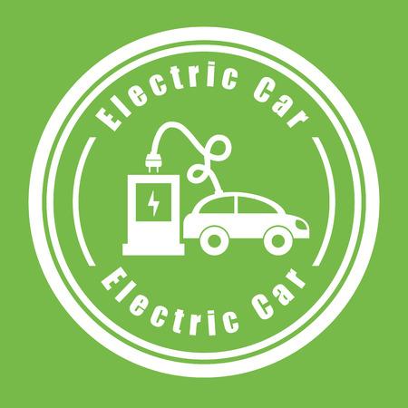 Elektrisch auto ontwerp Stock Illustratie