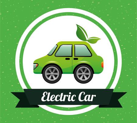 automÓvil caricatura: diseño de los coches eléctricos, ejemplo gráfico del vector eps10