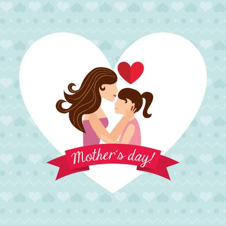 madre: madres día diseño, ilustración vectorial gráfico eps10 Vectores