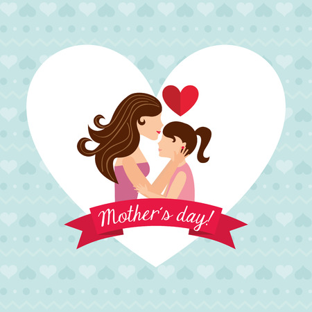mummy: mothers day design, vector illustration eps10 graphic