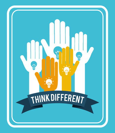 differently: think different design, vector illustration