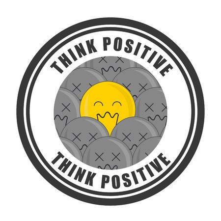 think positive: think positive design, vector illustration Illustration